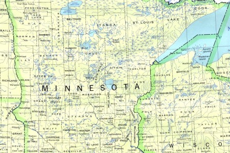 minnesota outline maps and map links