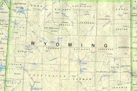 wyoming outline maps and map links