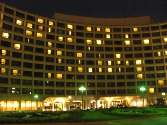 Night view of the Washington Hilton, CIL 2013 Venue