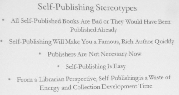 Self publishing stereotypes
