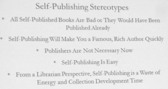 Self publishing stereotypes