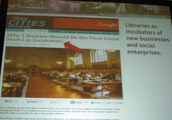 Libraries as Incubators