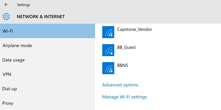 forget wifi password windows 10