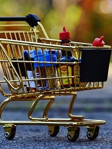 Candy Shopping Trolley Purchasing Shopping Cart