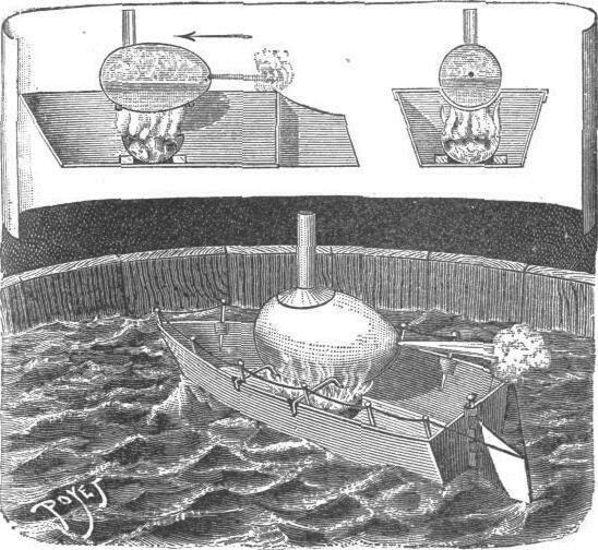 El buque de vapor en miniatura