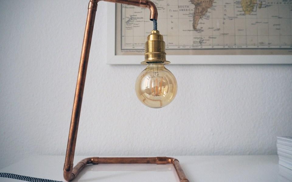 DIY Lampe aus Kupferrohren-5