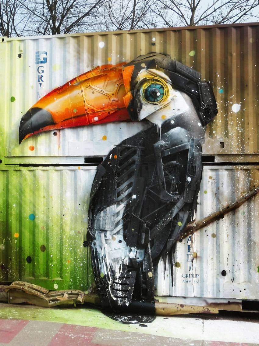05-Bordalo II - Amazing Street Art Murals From Trash