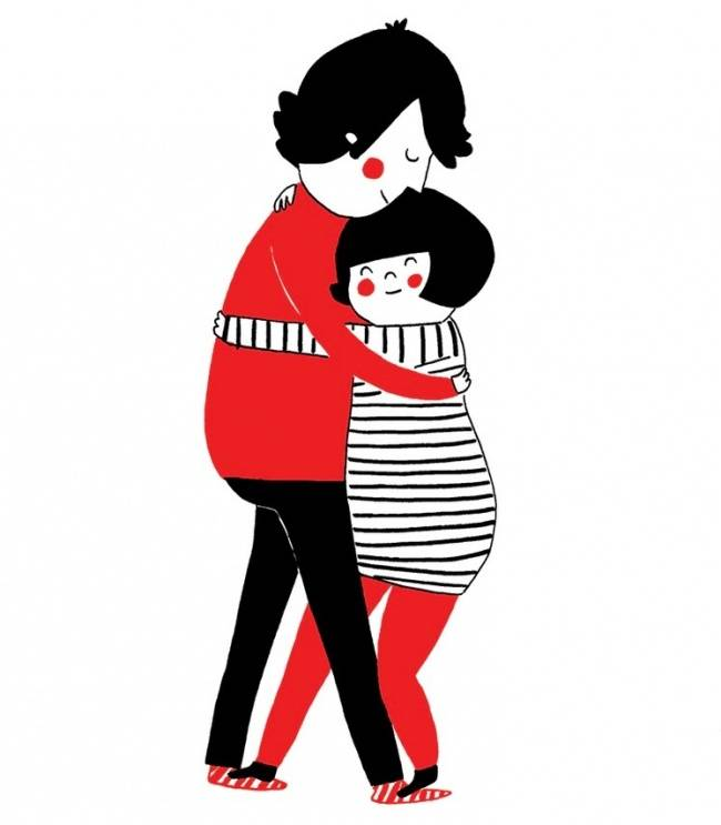 3-Do not forget to express your love with a hug
