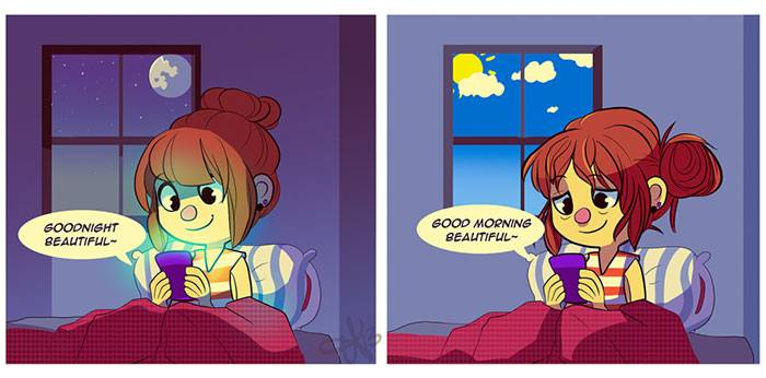 The ups and downs of a long distance relationship captured in a comic