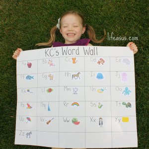 How to make your own ABC Word Wall & plan your own Easter Egg Hunt using common sight words (lifeasus.com) #easter #easteregghunt #egghunt #earlyliteracy #learntoread #reading #sightwords