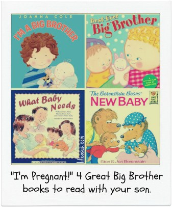 4 great books to prepare your child for a new baby! (lifeasus.com) #bigsister #bigbrother #newbaby #motherhood #parentwithus #reading