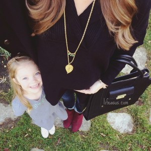 Avery Gold Leaf Necklace by Cadorah Jewelry featured by @lifeasallison on Instagram // Giveaway!