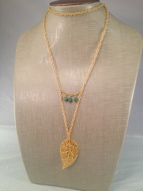 Avery Gold Leaf Necklace by Cadorah Jewelry // Enter to win one at lifeasus.com