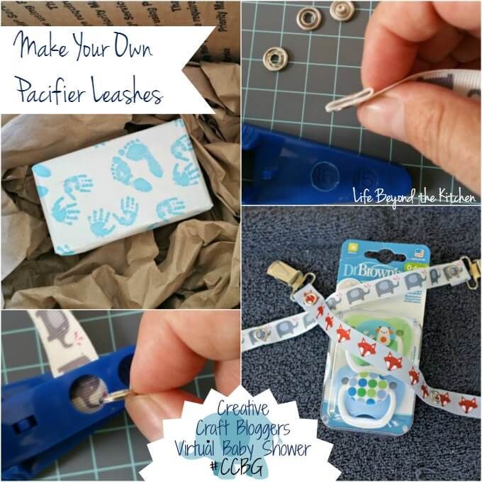 Make Your Own Pacifier Leash ~ Perfect Shower Gift ~ #CCBG ~ Life Beyond the Kitchen