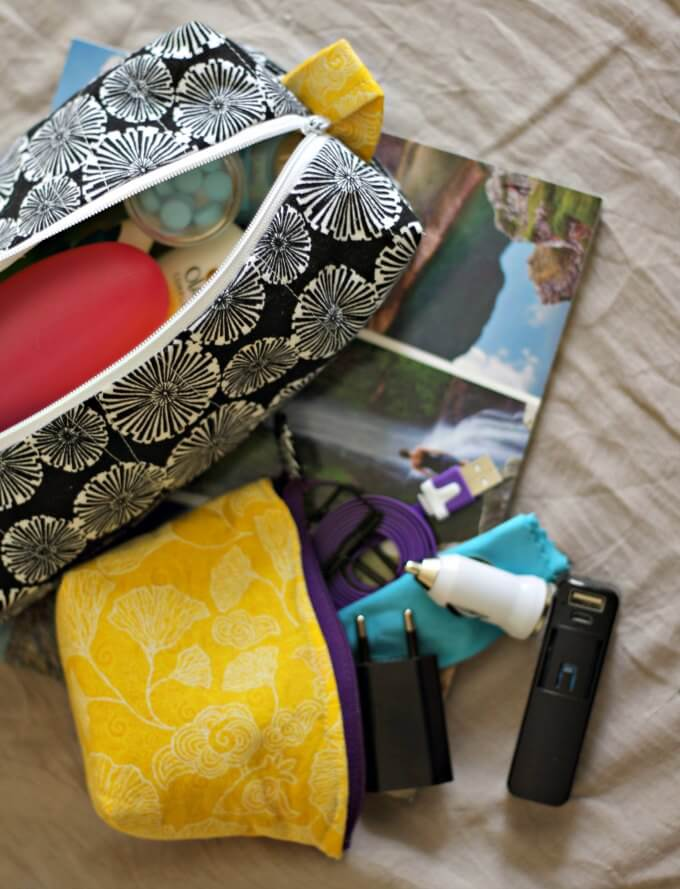 Make Your Own Coordinated Pouches for Easier Travel ~ Creative Craft Bloggers Group #ccbg ~ Life Beyond the Kitchen