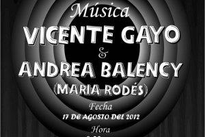 Flyer de Vicente Gayo y Andrea Balency en el Bar Caradura