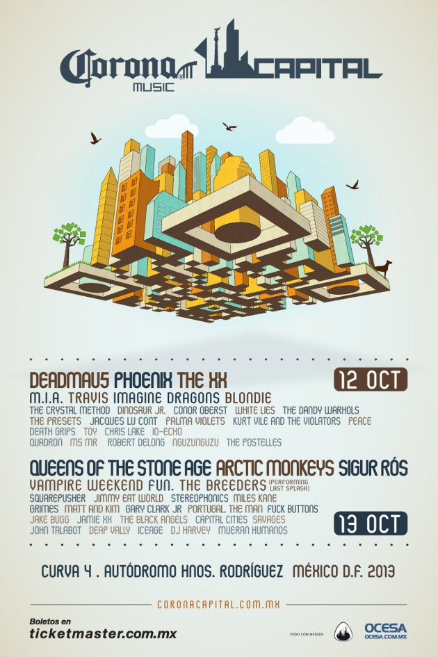 Nuevo póster del Corona Capital 2013