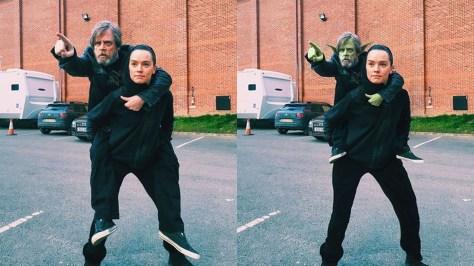 Daisy Ridley y Mark Hamill