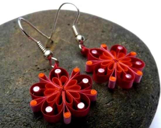 quilling-floral-earrings