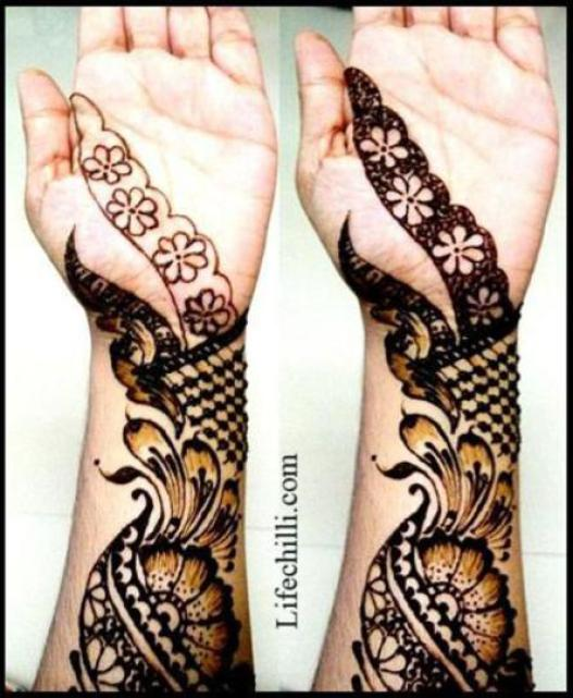 Mehndi Designs Step By Step For Hands : Arabic mehndi designs for hands step by