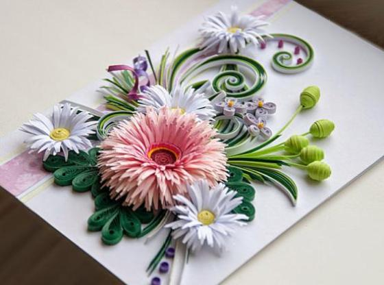 Paper quilling cards ideas by angel life chilli for Best quilling designs