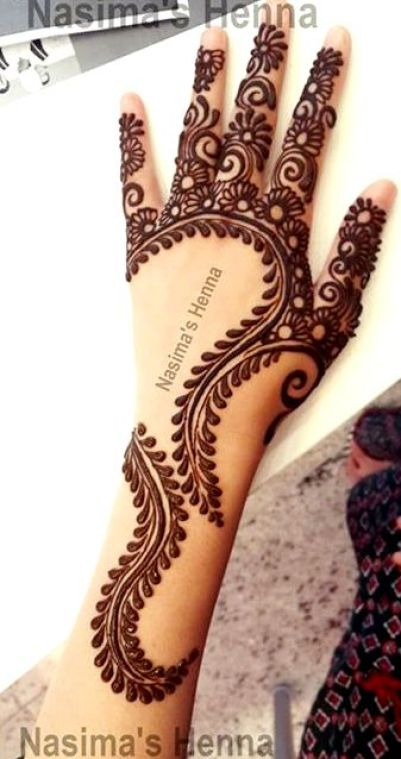 Creative Arabic Mehndi Designs By Nasima