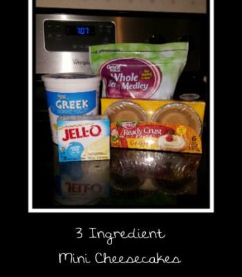 3 Ingredient Mini Cheesecakes