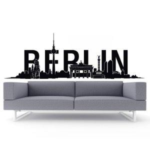 Skyline-Wandtattoo-Berlin-Typo-107-x-35-cm-Schwarz-0