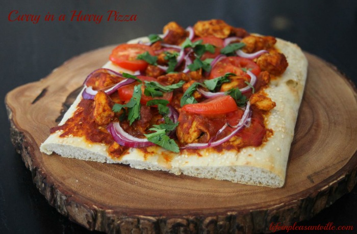 curry in a hurry pizza