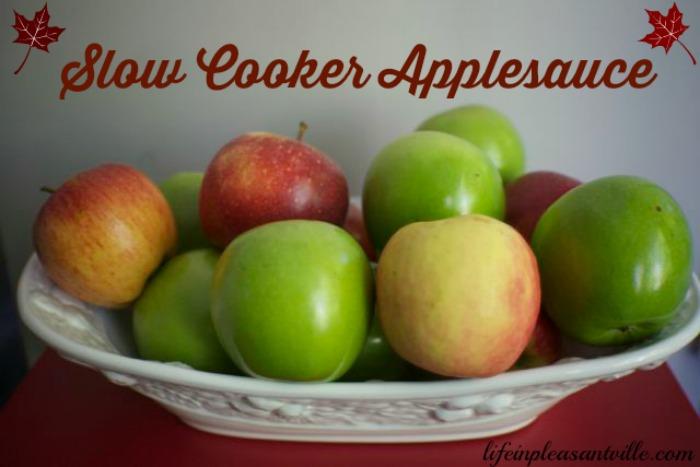 slow cooker applesauce, crockpot apple sauce, make ahead
