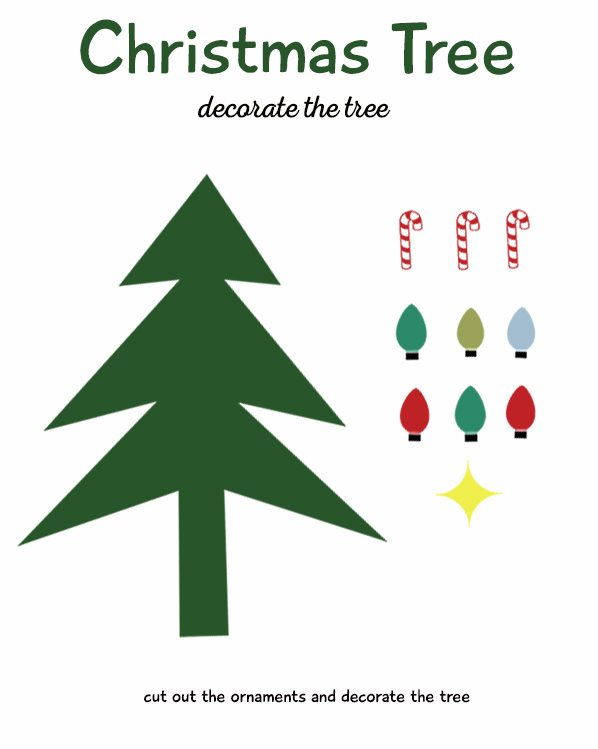 Decorate Christmas Tree Worksheet : Winter activities for kids life is a lullaby