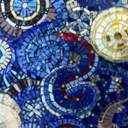 hand cut glass mosaic sample
