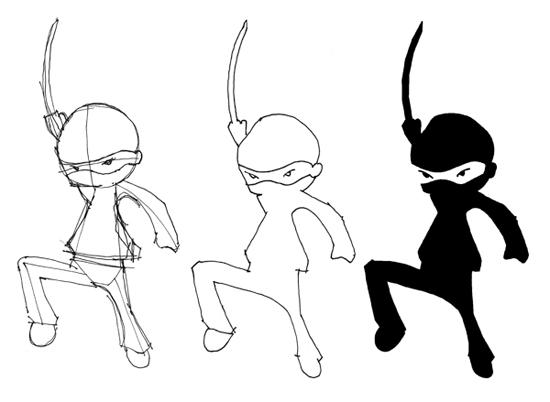ninja drawings