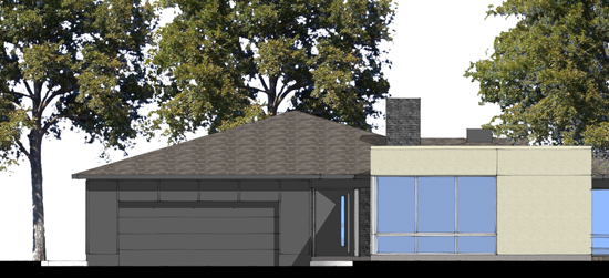 SketchUp Partial North Elevation