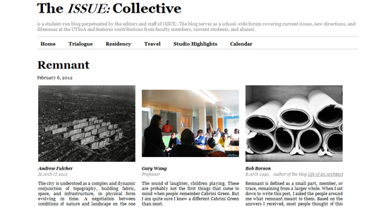 "The ISSUE Collective Trialogue ""Remnant"""