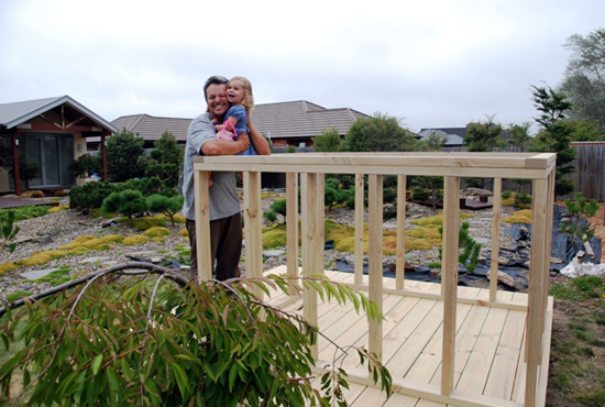 Japanese Playhouse in New Zealand - framing and Matt Staiger