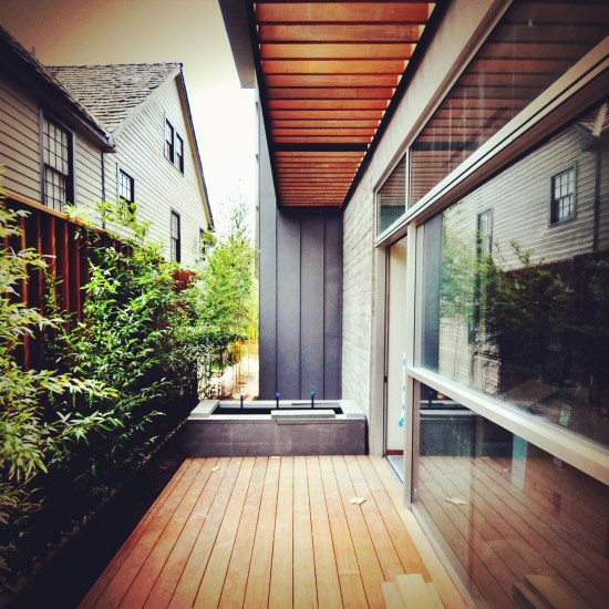 modern project - side yard secret garden
