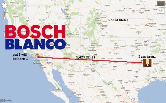 from Dallas, Texas to Blanco and Bosch in Irvine, California