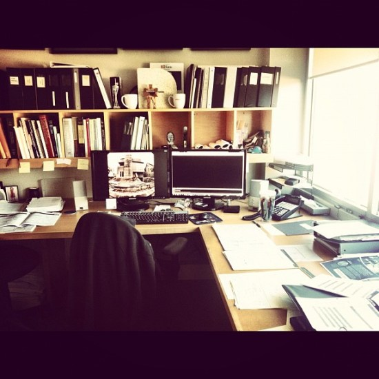 an architects' desk