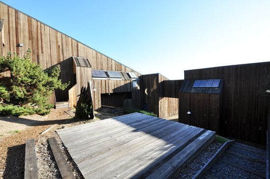 Interior Courtyard at Condominium One at Sea Ranch