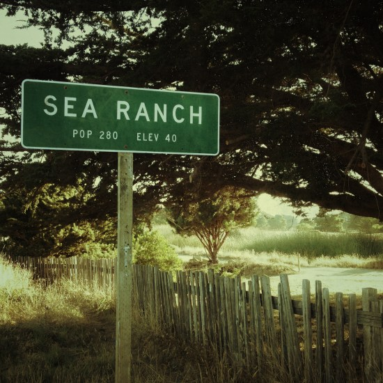 Sea Ranch population sign