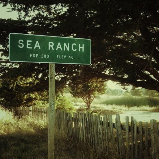 Sea Ranch population sign
