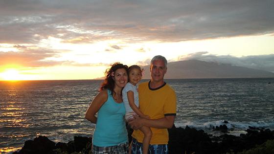 Michelle, Kate and Bob Borson