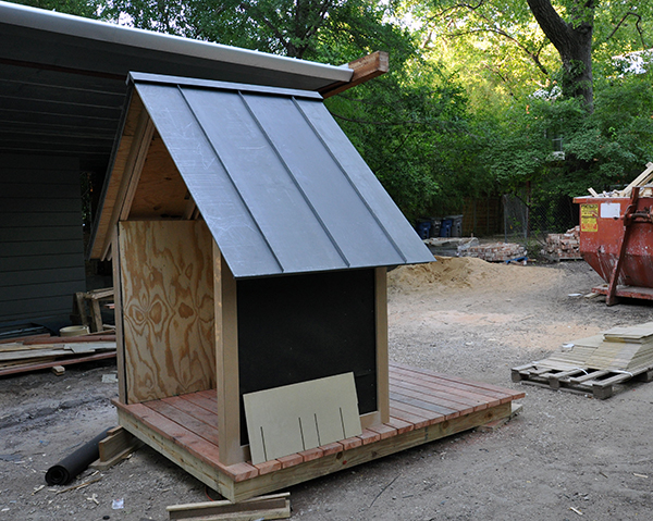 The Bird Playhouse prepared to receive James Hardie Siding