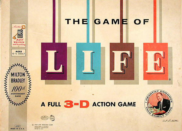 The Game of Life by Milton Bradley original game set