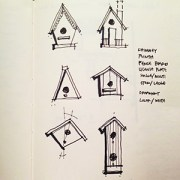 birdhouse sketches by Dallas Architect Bob Borson