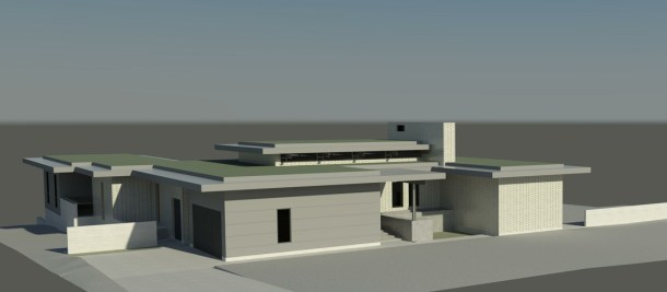 KHouse Modern Front Elevation Perspective