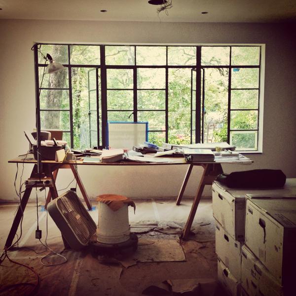 Construction site desk