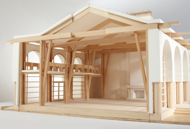 final section view of architectural model