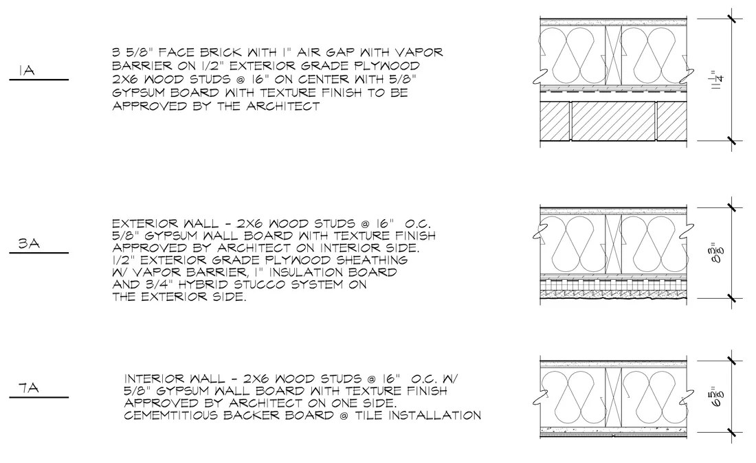 Architectural Graphic Standards - Partition Types